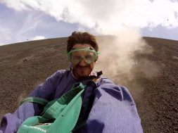 Volcano boarding Cerro Negro