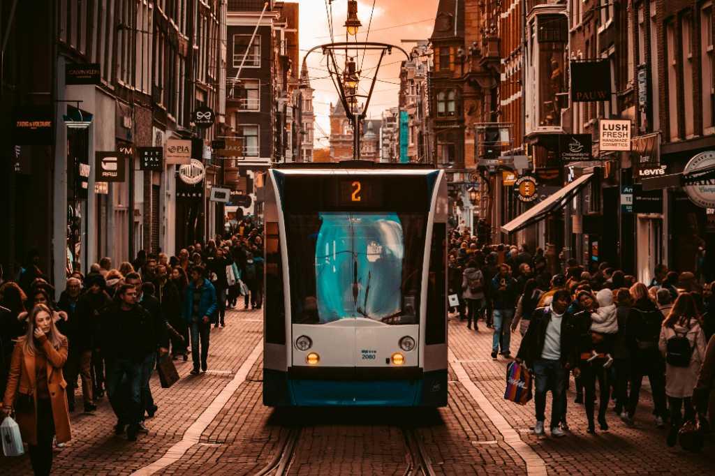 Transporte publica en Ámsterdam