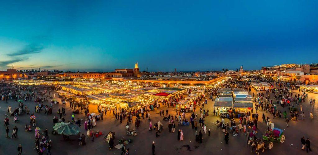 seguridad en Marrakech plaza Plaza Jamaa el Fna
