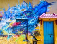 Arte urbano en el barrio de Getsemaní