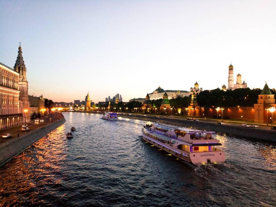 paseo en barco rio moscova